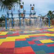 <p>Play Matta™ Rebound Rubber Aqua has the same PVC composition as all Rebound tiles, with a rubber surface, makes it ideal for waterplay</p>