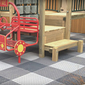 <p>Play Matta™ is a fun and safe surface to play on; but its benefits extend well beyond the surface. Patented tile welding system*, ensures installation remains secure. A quality product protecting your playground investment.</p>
