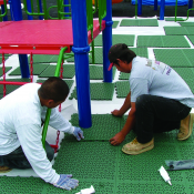 <p>Give new life to your well used Play Matta surface through refurbishing the existing surfacing and relaying it using our newly-devleoped and innovative welding technology.</p>
